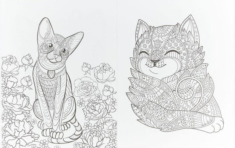 Cats 2 творческая раскраска замурчательных котиков