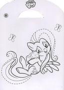 Мой маленький пони. Наклей, дорисуй и раскрась — фото, картинка — 1