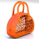 Сумка-корзинка (оранжевая) — фото, картинка — 1