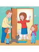 Очень занятые дети. Мама, папа, двое детей, кот и собака Джа — фото, картинка — 1