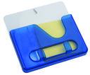 Подставка под ручки с бумажным блоком и крючками для ключей (синяя) — фото, картинка — 1
