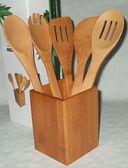 Набор кухонных инструментов бамбуковых на подставке (5 предметов; арт. BB101148) — фото, картинка — 1